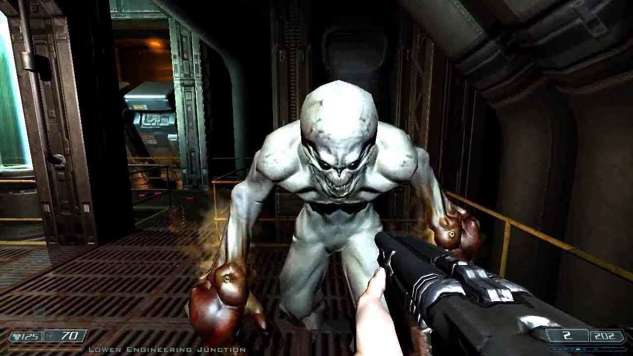 DOOM 3 The Lost Mission 5 Gameplay Xbox 360 Exis Labs