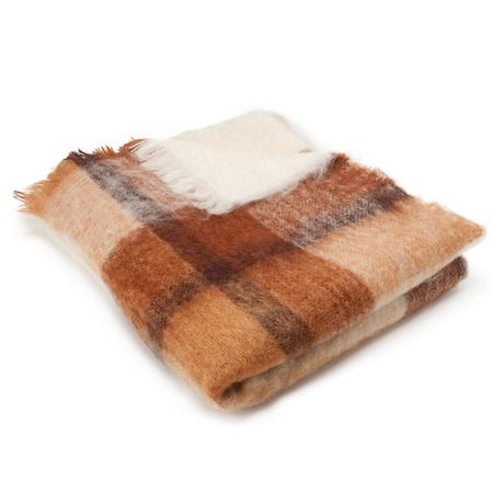I pinned this Mohair Throw in Brown Plaid from the Brun de Vian-Tiran event at Joss & Main!