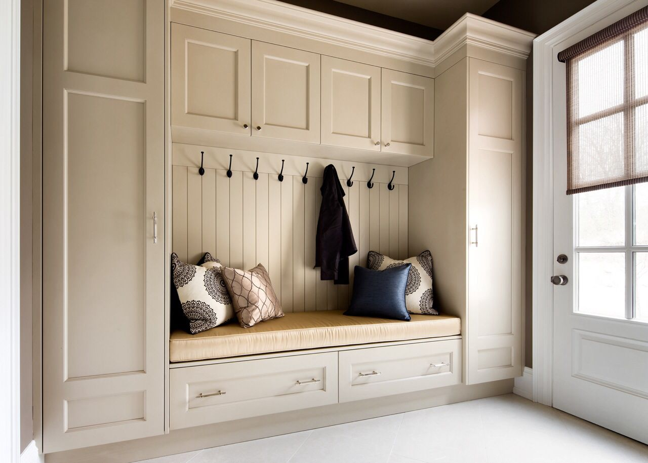 Entry Way Bench Laundry Room Storage Small Muebles De