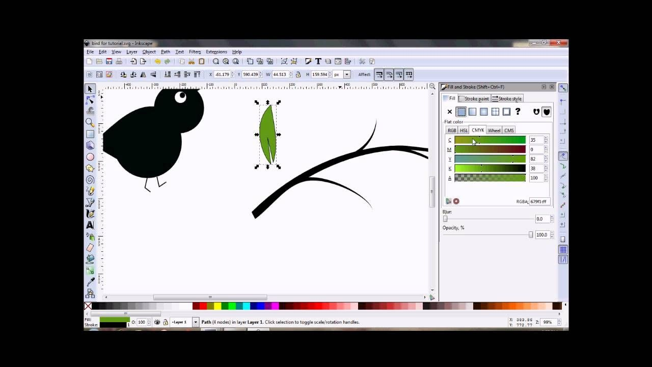 Inkscape Tutorial ~ How to Draw a Tree Branch | Cricut / MTC