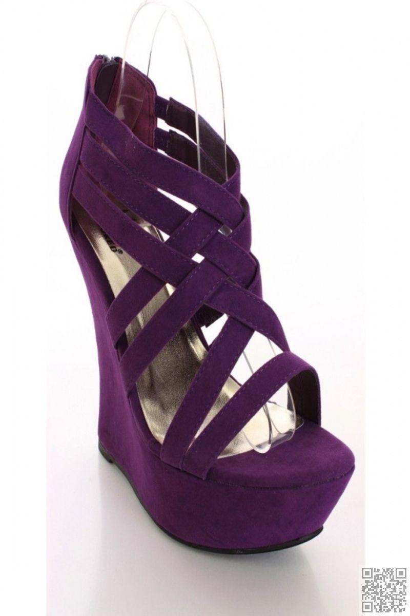 5715c99a9f4c0a  Purple Wedges.  Purple Wedges Purple Shoes