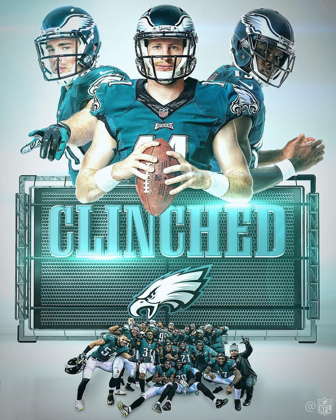 The Philadelphia Eagles Have Clinched The Nfc East And Are Heading To The Philadelphia Eagles Football Philadelphia Eagles Fans Eagles Football