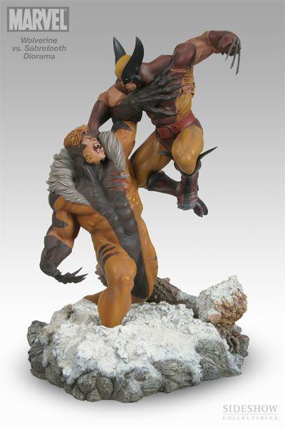 Wolverine Vs Sabretooth Polystone Diorama by Sideshow