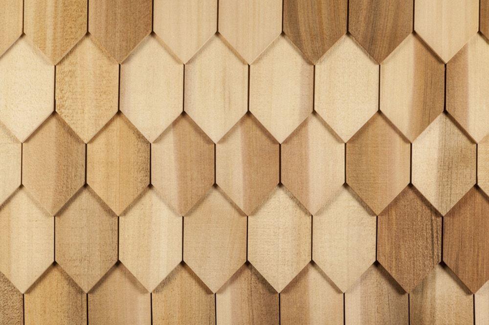 Wide Hexagon 4 15 16 X 17 1 2 Wood Roof Cedar Shingle Siding House Paint Exterior
