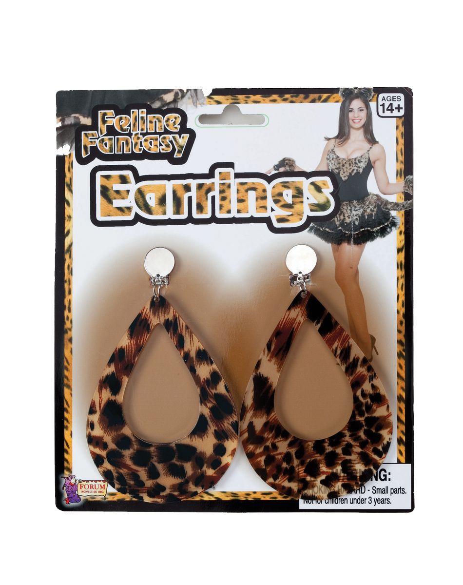 Leopard Earrings Girls earrings, Halloween costume store