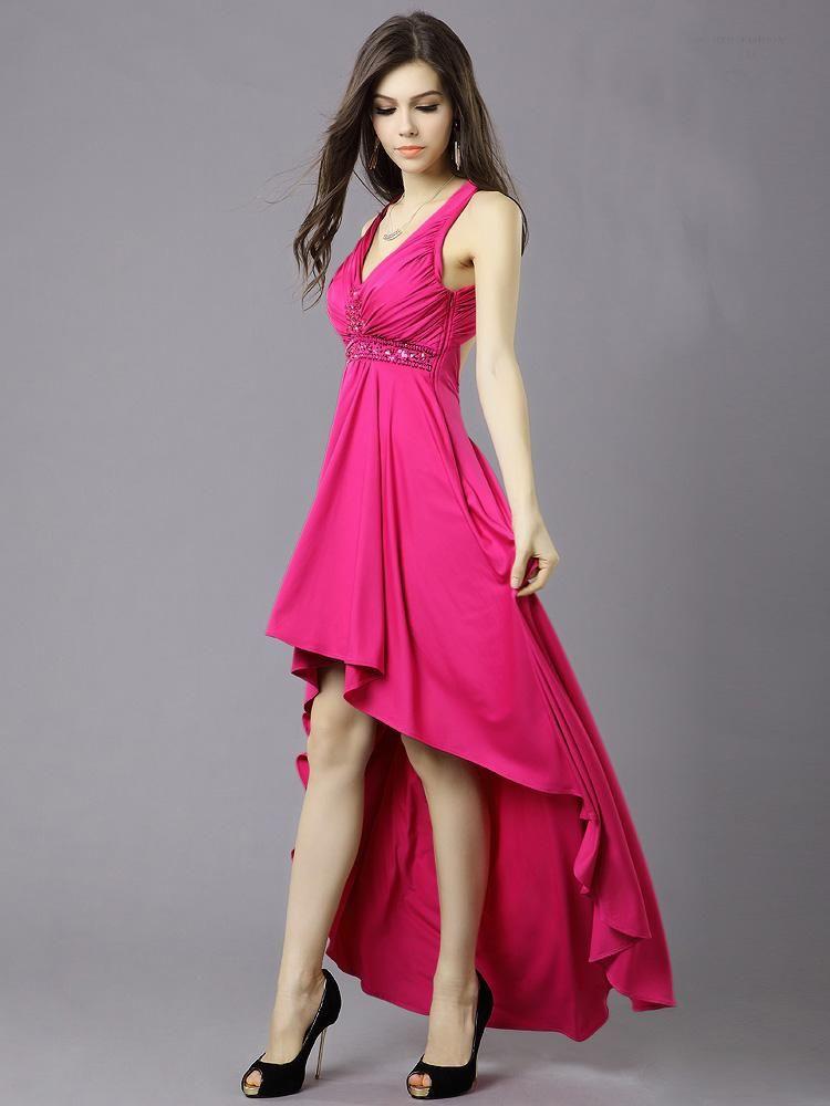 Fotos de vestidos de fiesta asimétricos | ropa mujer | Pinterest ...