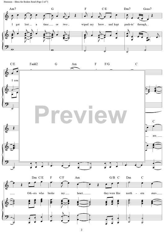 Bless The Broken Road Music Pinterest Digital Sheet Music