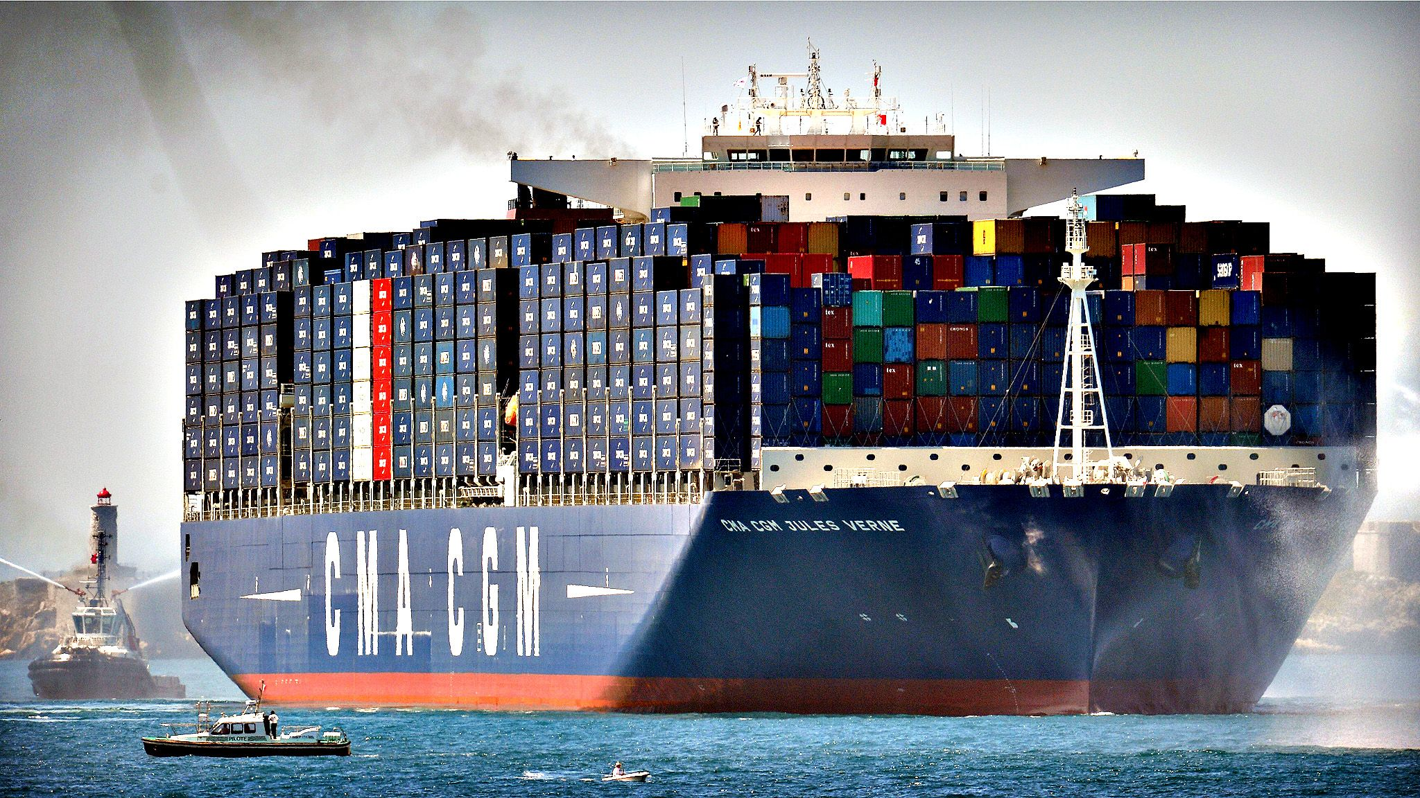 World S Largest Container Ship In Marseille With Images Cargo Shipping Shipping Container Ship