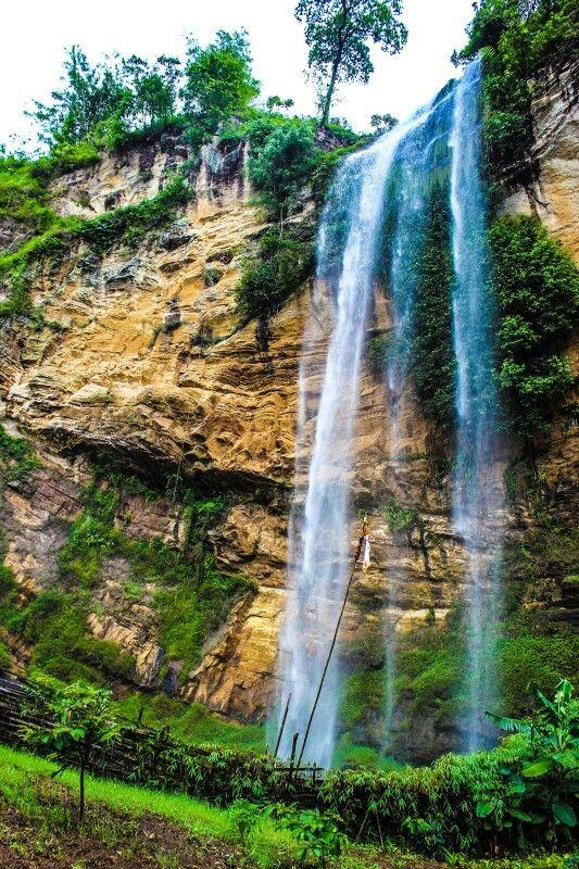 Air Terjun Gunung Nyawe Desa Perigi Kabupaten Lahat Sumatera Selatan Air Terjun Pedesaan Air