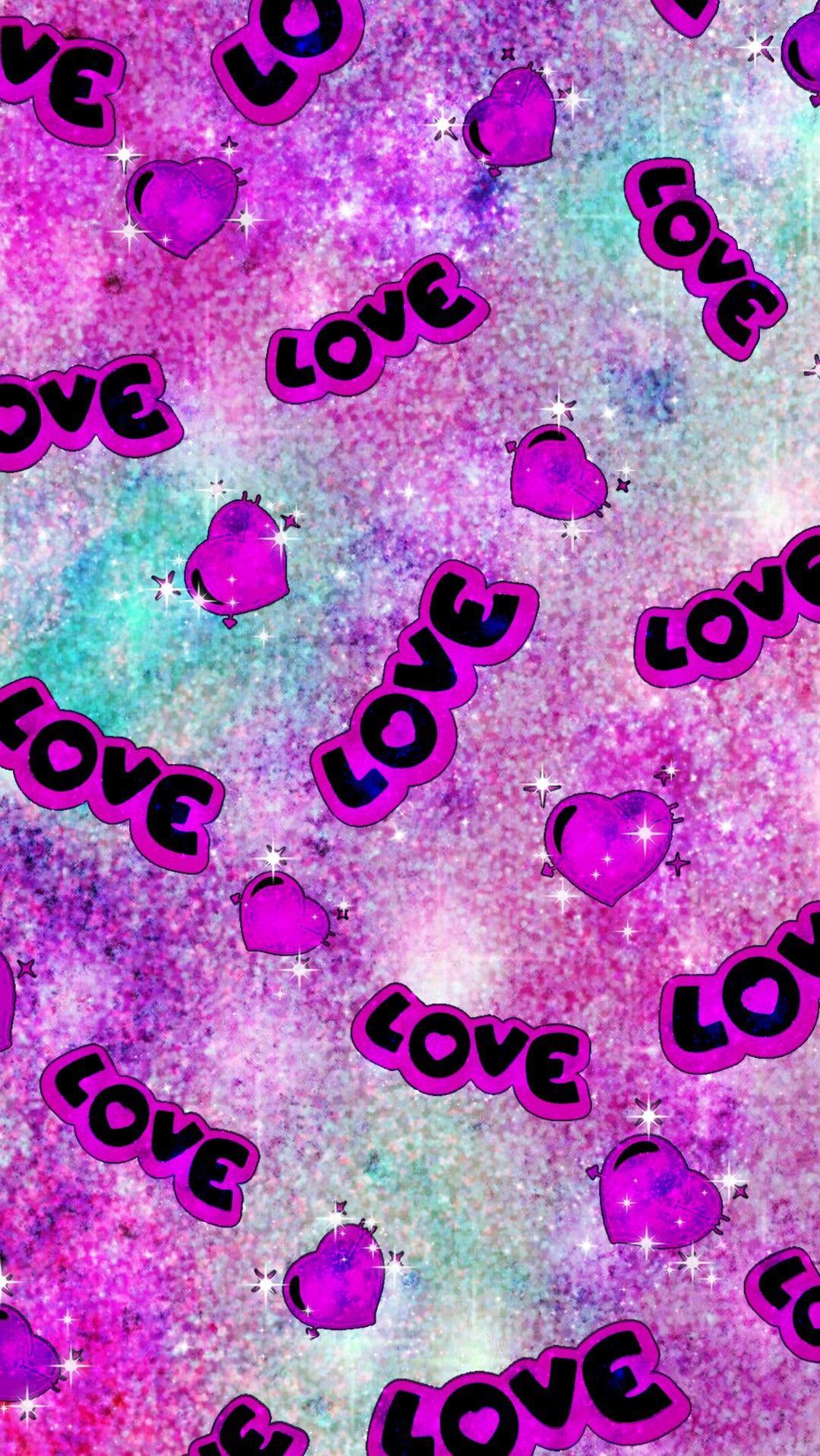 Glittery Love Hearts Made By Me Patterns Purple Glitter Sparkles Galaxy Wallpape Glitter Phone Wallpaper Iphone Wallpaper Glitter Pink Glitter Wallpaper Glitter pink love wallpaper