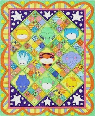 Cotton Fabric - QUILT TOP Fabric, Zoo Parade Flannel Panel Multi - 23x45. $4.00, via Etsy.