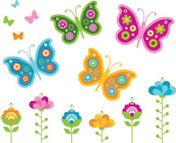 Adesivo Para Levantar Mama Funciona ~ Adesivo de parede borboletas coloridas Riscos de Borboletas Pinterest Parede borboleta
