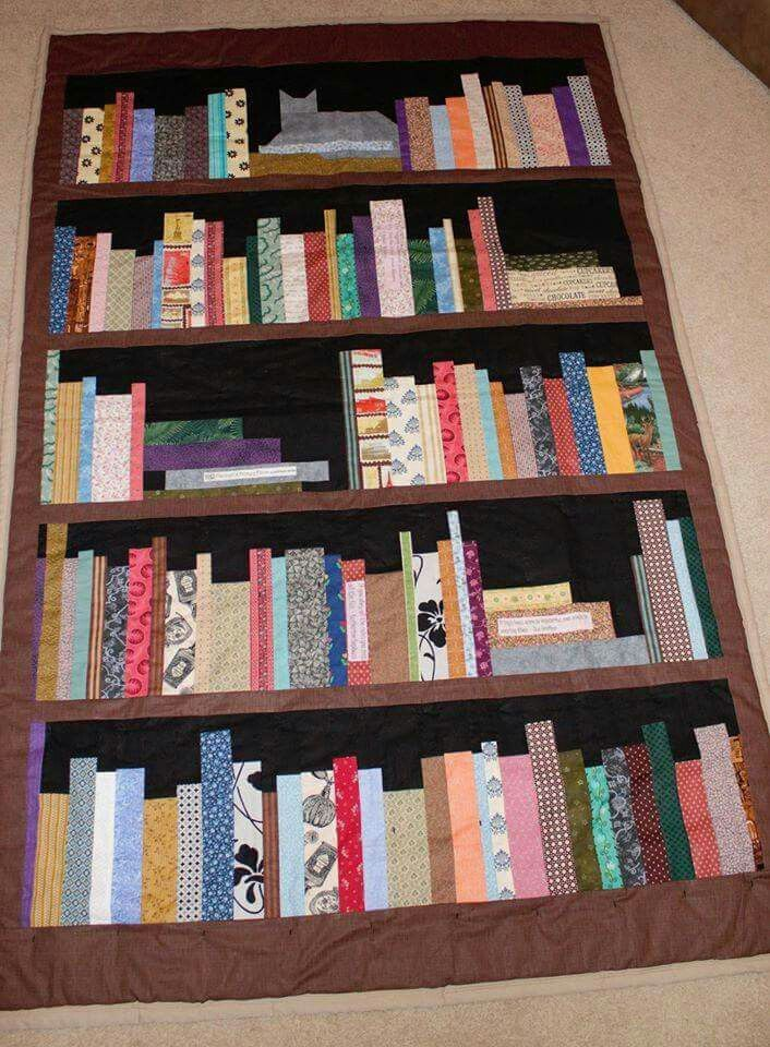 Omg I Love This Book Shelf Quilt Book Quilt Paper