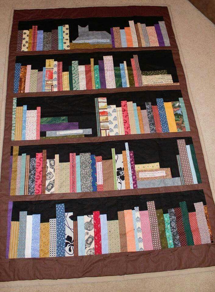 Bookcase Quilt Pattern Cat