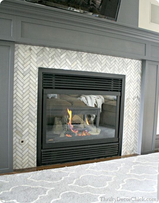 Marble tiles and Fireplace glass