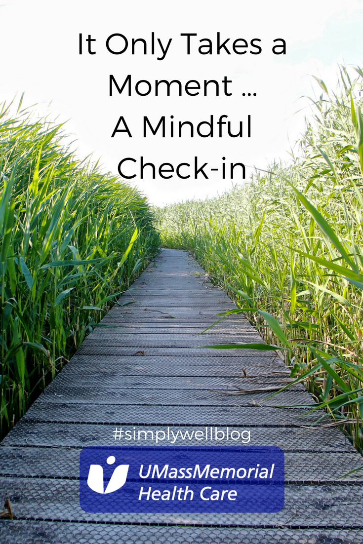 It Only Takes A Momenta Mindfulness Check In Simply Well Blog