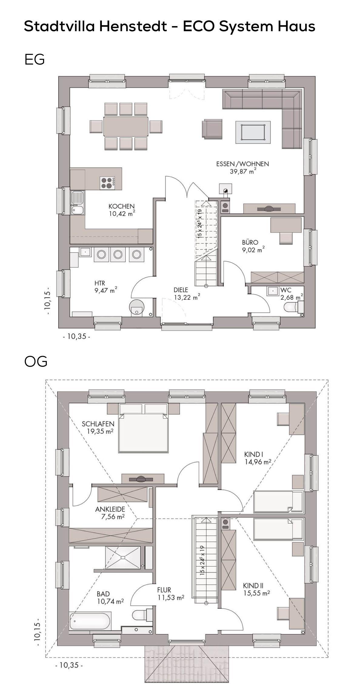 Grundriss Stadtvilla Modern Mit Klinker Fassade Walmdach