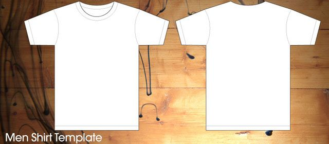 front and back t shirt template eps men pdf