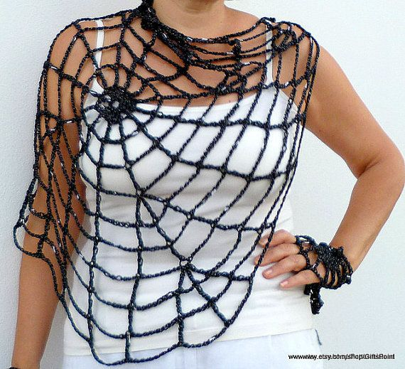 Pdf Crochet Pattern One Size Halloween Spiderweb With Handy Webs