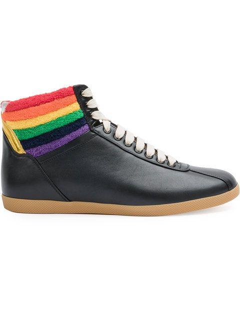 gucci shoes rainbow. gucci rainbow hi-top sneakers. #gucci #shoes #sneakers gucci shoes e