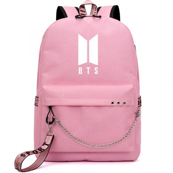 Fashion Backpack Kpop BTS Bangtan Boys LOGO School Book Travel  Shoulder Bags US