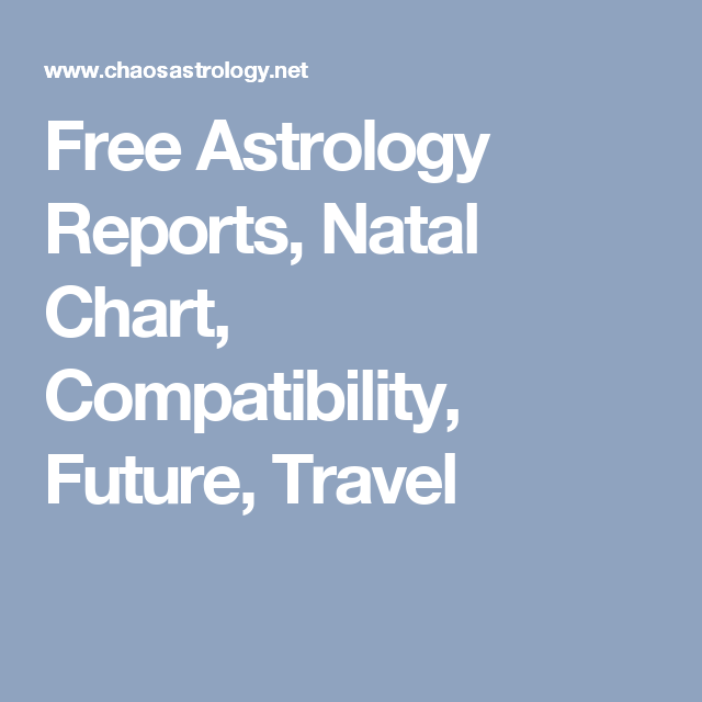 Free Astrology Reports Natal Chart Compatibility Future Travel