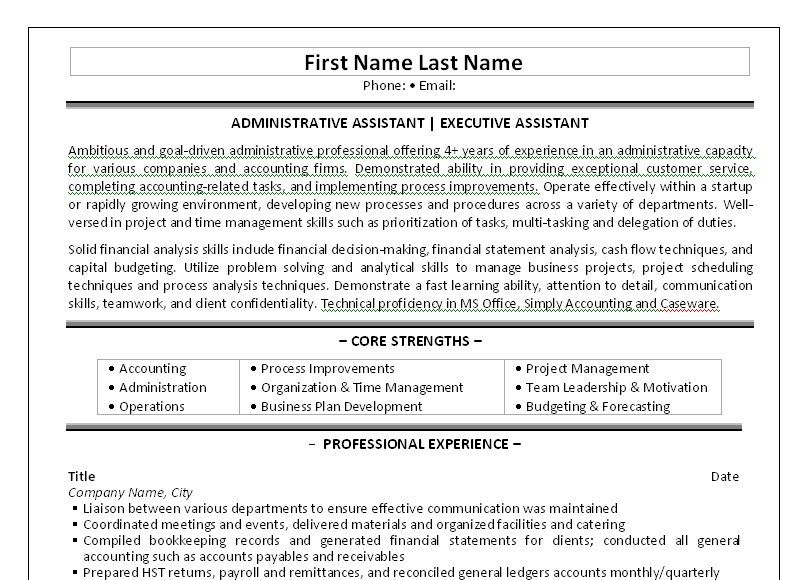 Executive Secretary Resume Click Here To Download This Administrative Assistant Resume