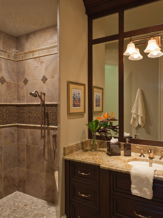Bathroom Design Comely Bathroom Style With Brown Marble Bathroom Shower Tile Ideas With Brown Mosaic Wa Shower Tile Designs Tile Bathroom Traditional Bathroom
