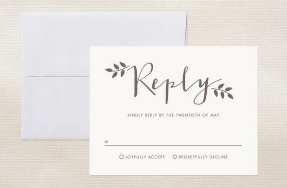 To Word Your RSVP Card