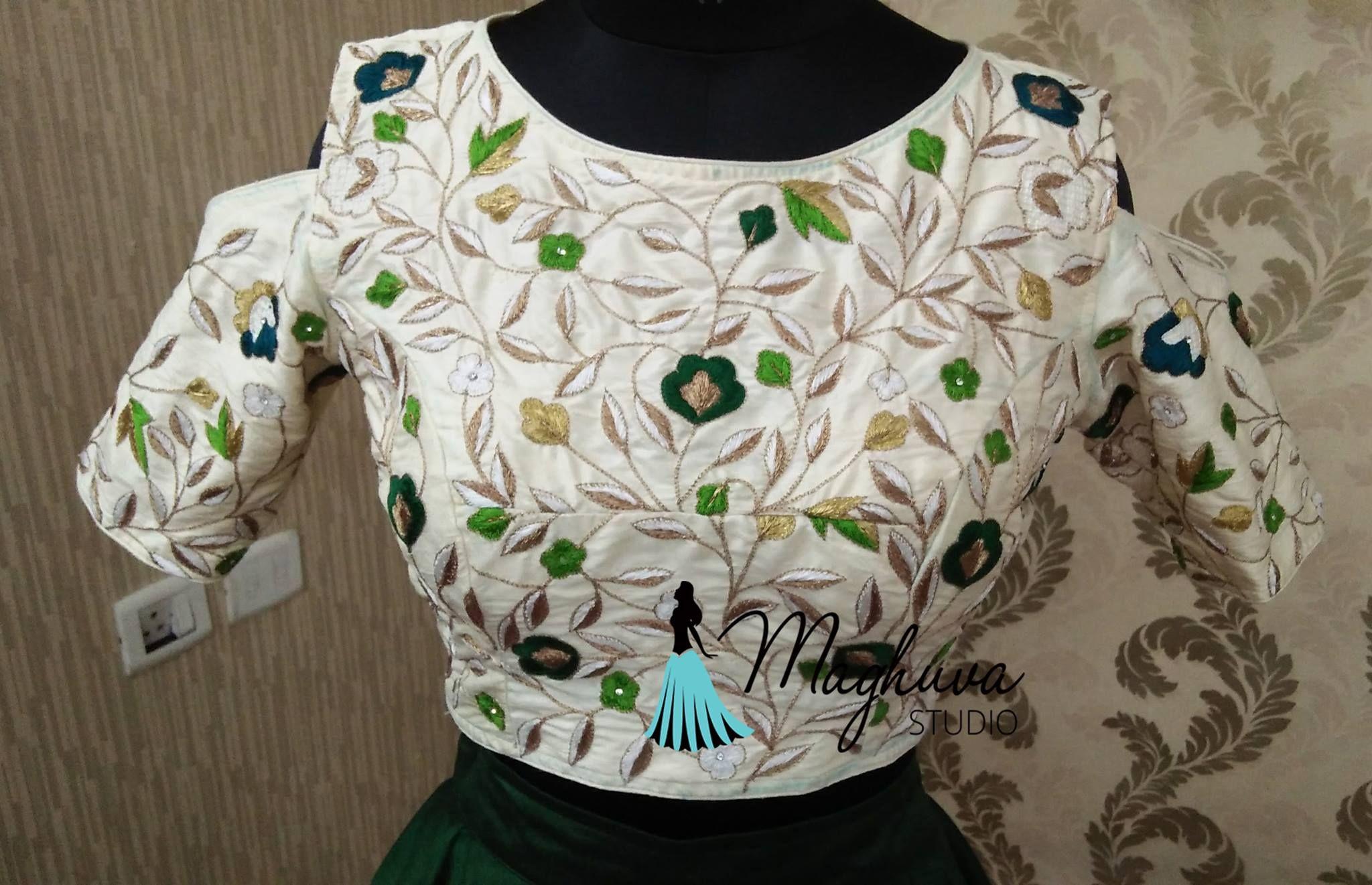 Maghuva Studio Hyderabad Madhapur Contact 0091 9052427799 Blouse Designs Latest Blouse Designs Work Blouse