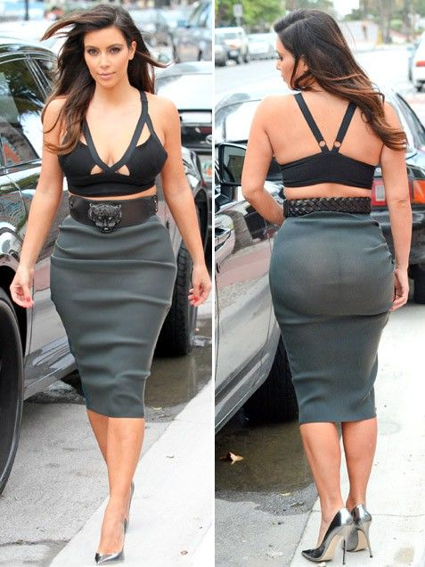 fe57b8ce003b3 Kim Kardashian bad celebrity fashion The skirt is see through. You need a  slip Don't wear a bra as a top