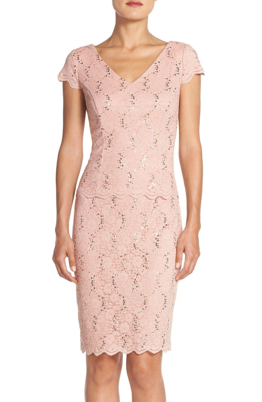 Alex Evenings Embellished Lace Sheath Dress | Wedding | Pinterest
