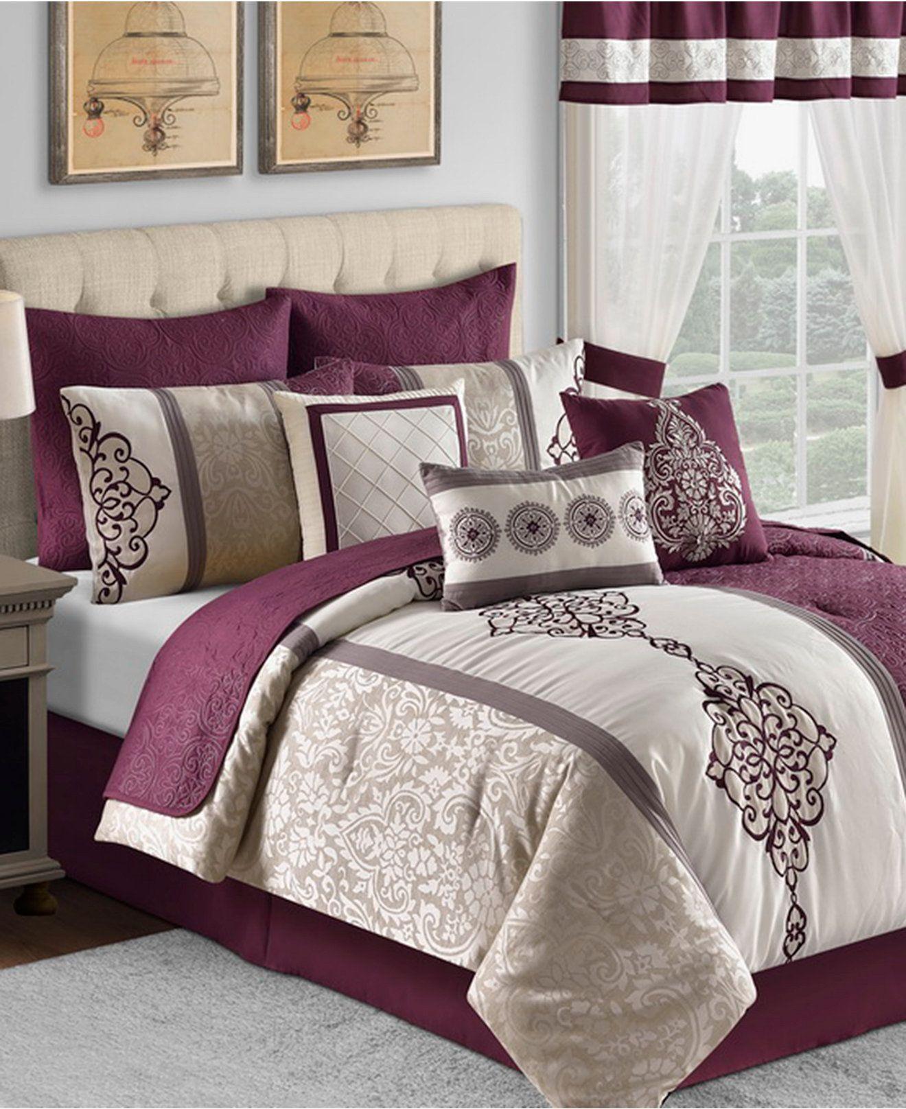 Kayden 22 Piece forter Set Bed in a Bag Bed & Bath Macy s