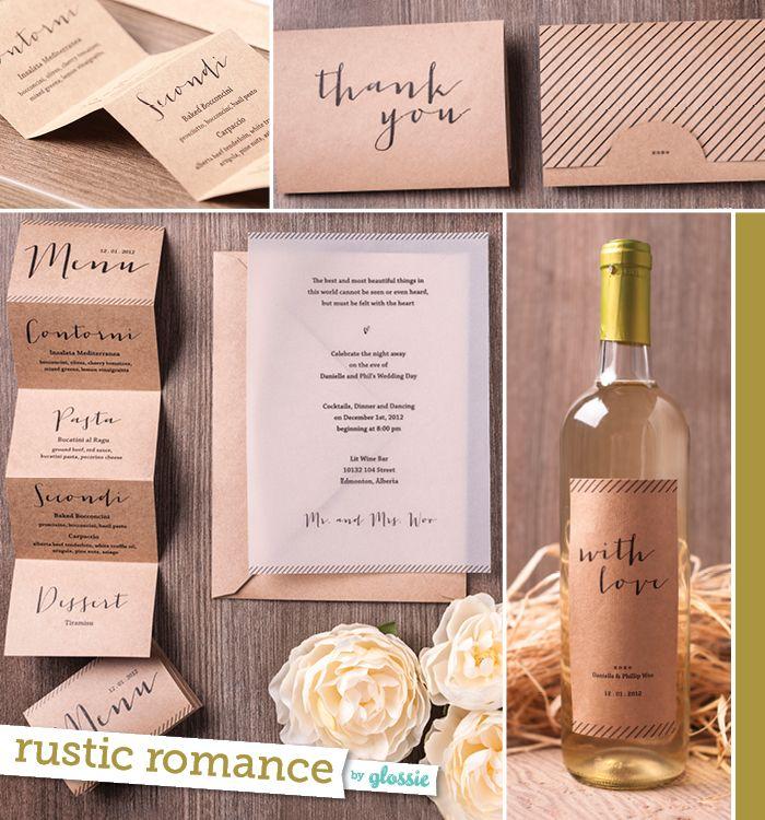 Edmonton Wedding Invitations Designer Glossie | Collected Invitation ...
