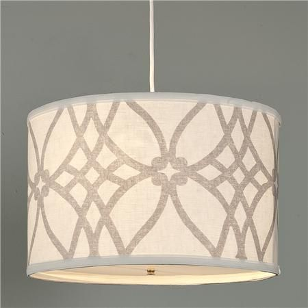 Trellis Linen Drum Shade Pendant  Drums Nooks and Pendant lights