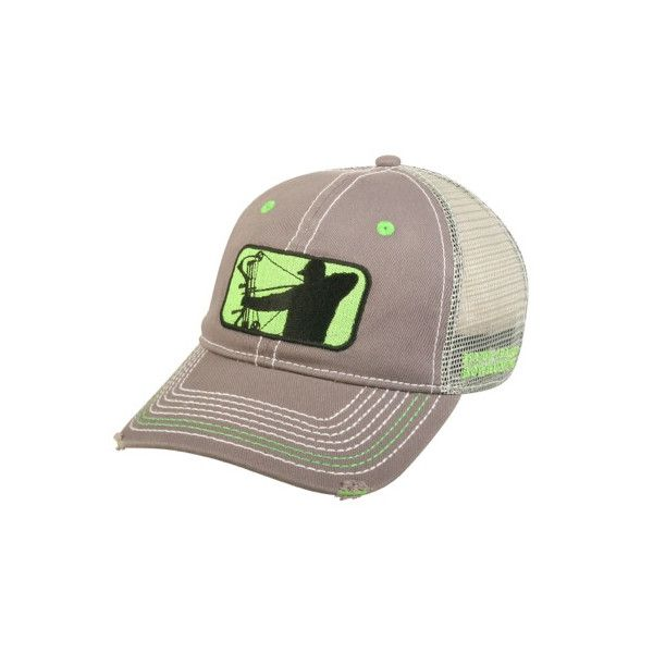 Adjustable Grey Mesh Hat   Major League Bowhunter