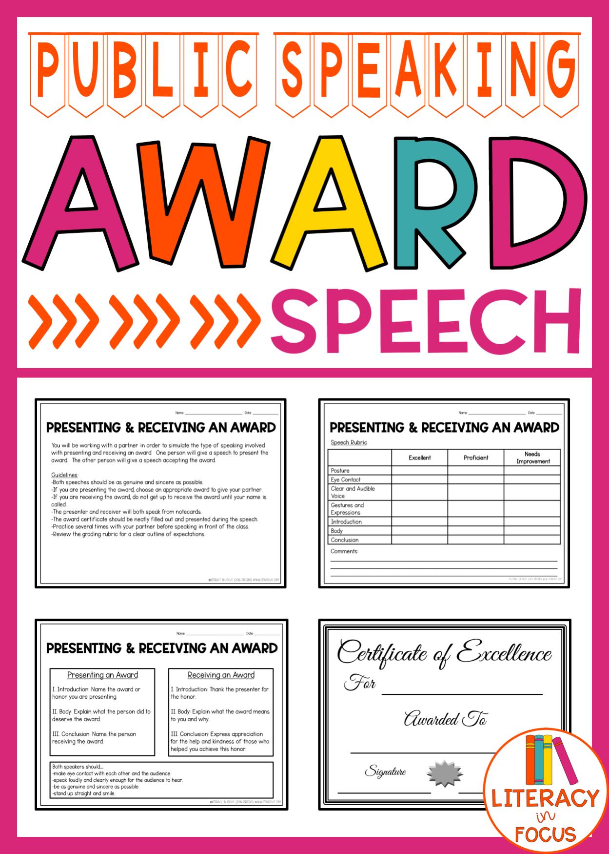 Public Speaking Award Speech