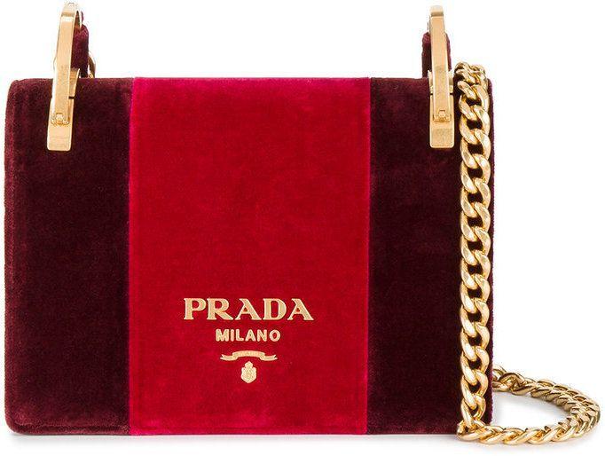 3d86de1e82fe Prada Pattina velvet shoulder bag | RED INSPIRATION in 2019 | Red ...