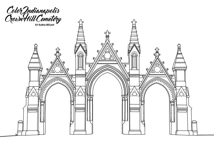 Crown Hill Cemetery Gates