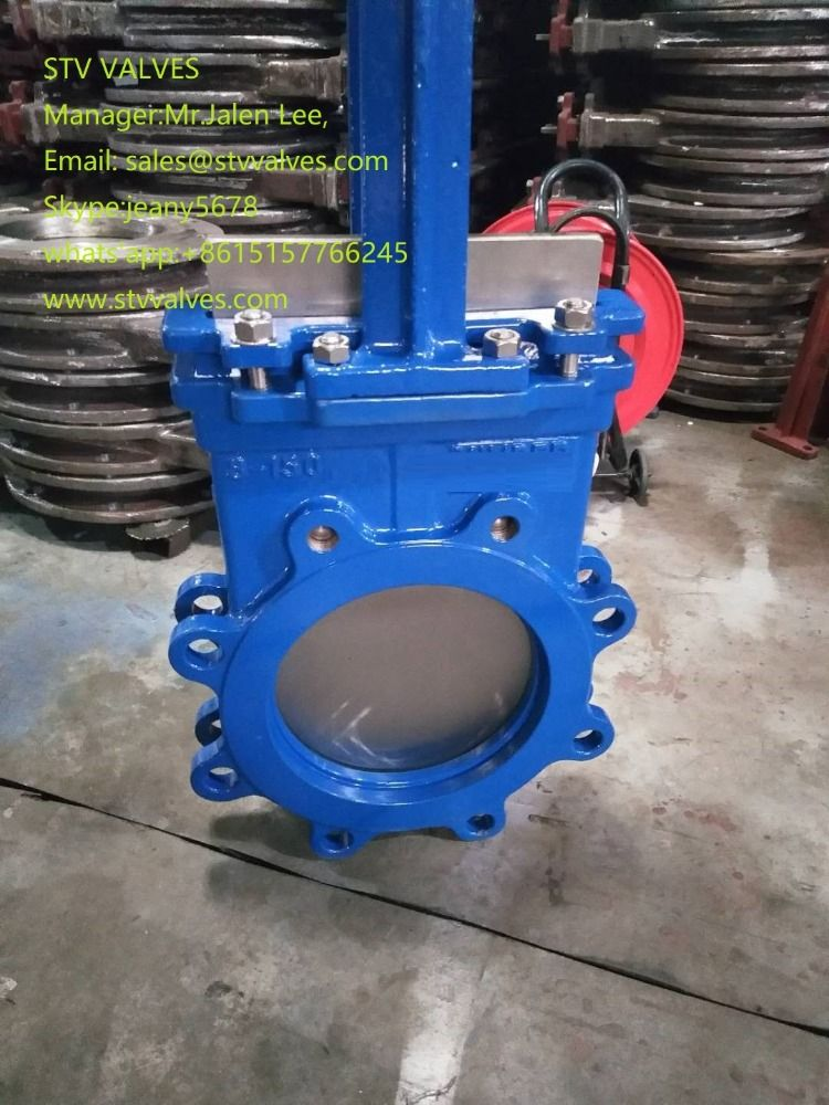 Stv Wafer Knife Gate Valve 150lb 8 Inch Epoxy Paint Knife Gate Valve In 2020 Gate Valve Epoxy Paint Forged Steel