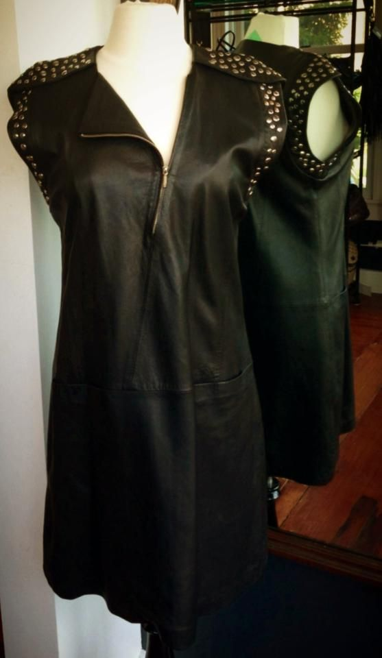 24e328d417e Sita Murt Leather Dress with Studs Size 8  349 One Savvy Design Consignment  Boutique 74 Church Street
