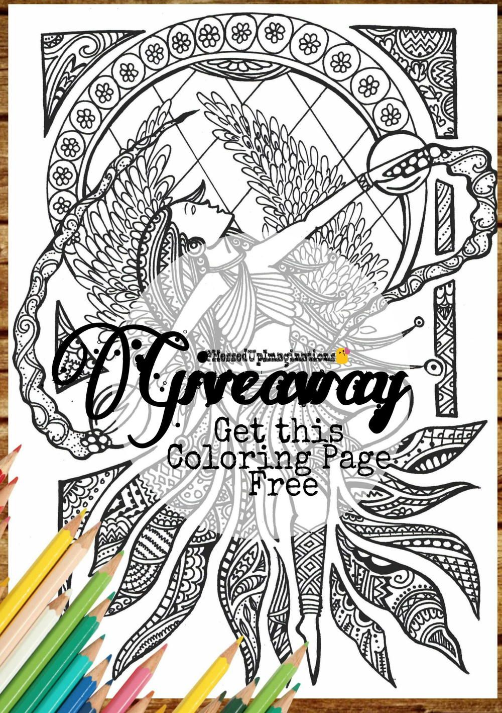 Adult fairy coloring page adult coloring and coloring books