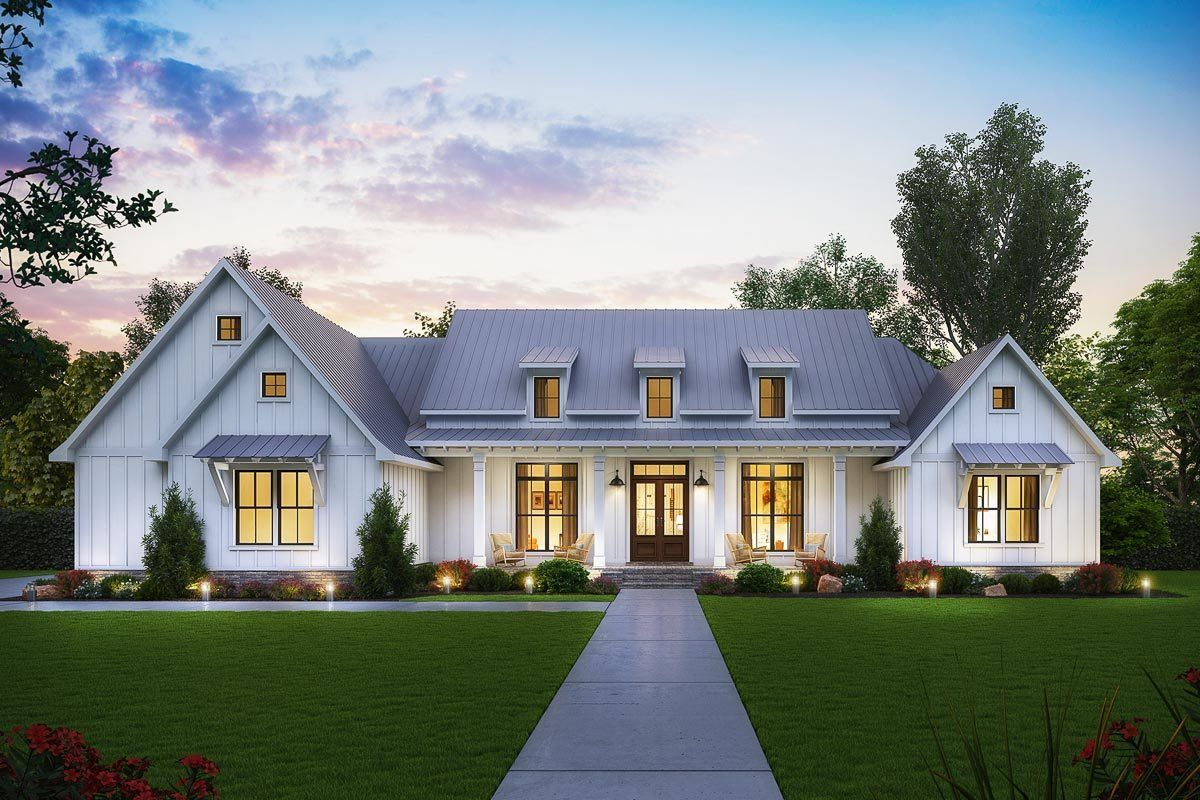 one story farmhouse plans with porch