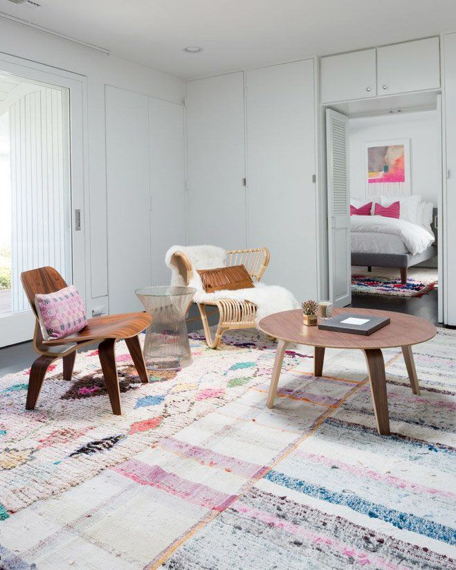 Room With Pink Accents Wayfair Living Furniture Eclectic