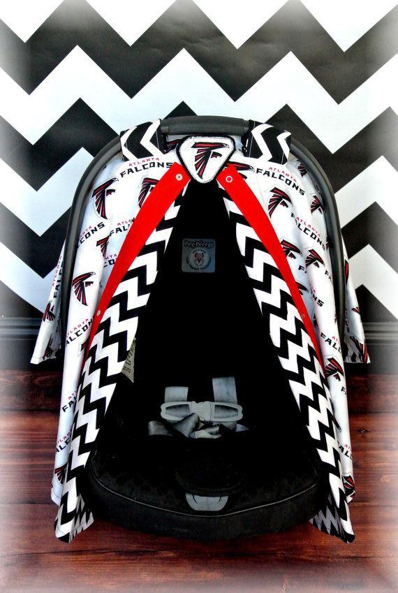 53619f683 Atlanta FALCONS car seat canopy car seat cover by JaydenandOlivia ...