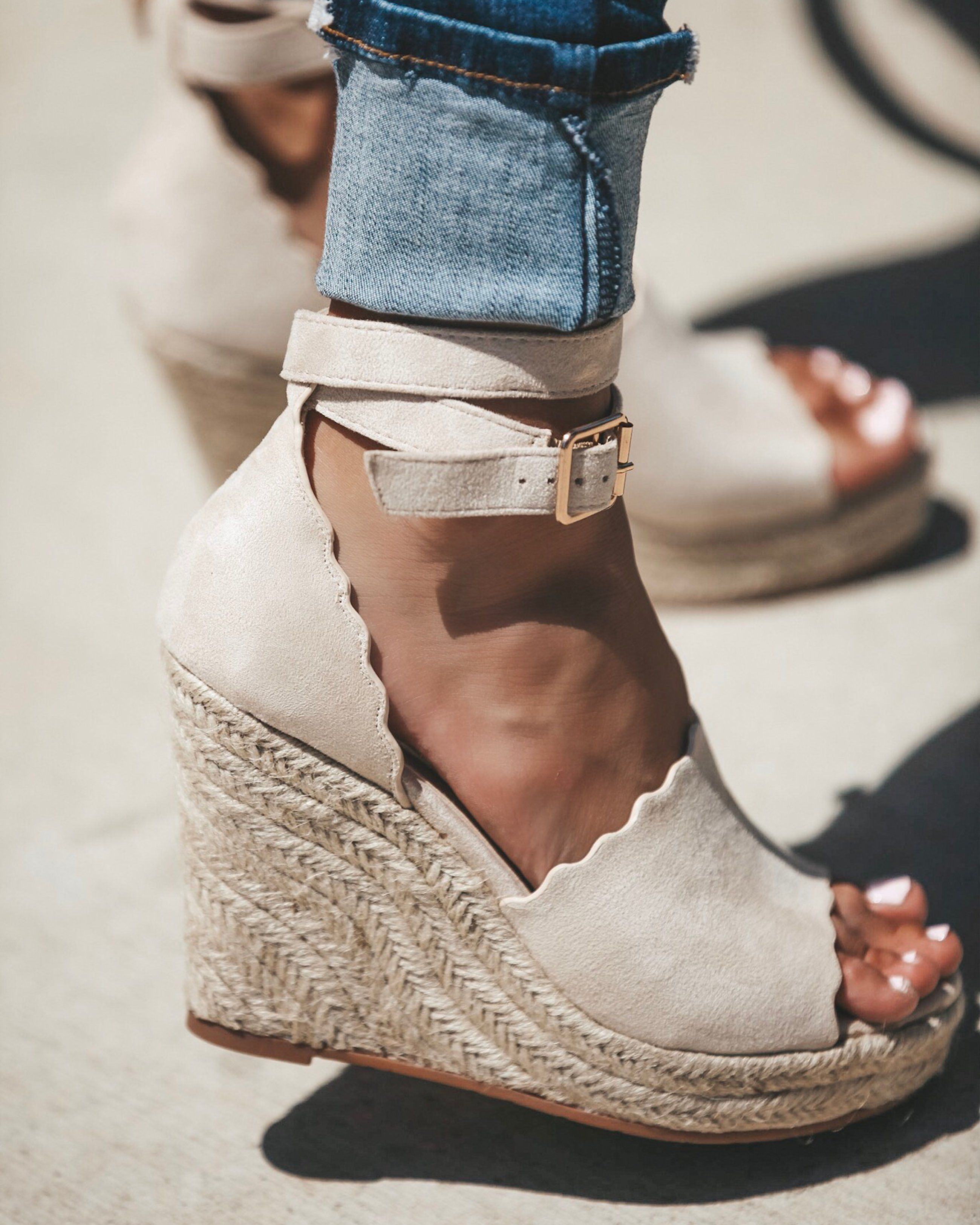 """c7a77b7c873 Junie Espadrille Wedge - Nude 4"""" 