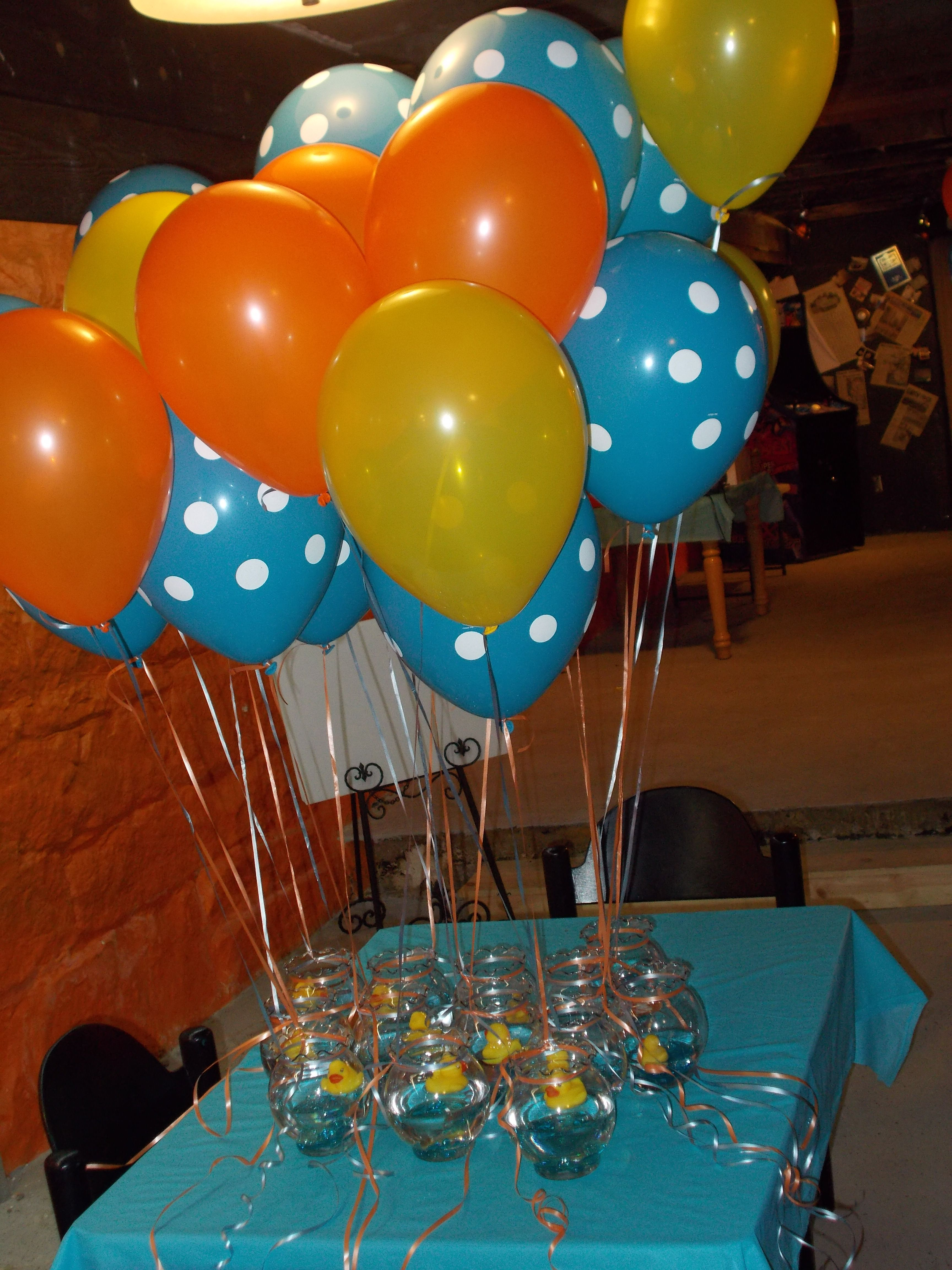 Delightful Duck Baby Showers · Ducks In A Fish Bowl For Centerpieces