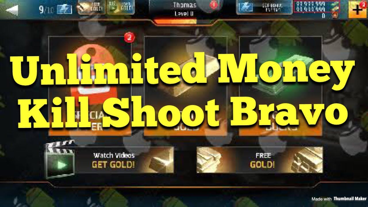 Kill Shot Bravo hack unlimited Gold and Bucks -ios android