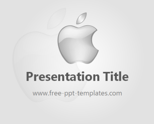 Apple powerpoint template is a grey template which you can use to this free powerpoint template is perfect for presentation about apple or its brands toneelgroepblik Gallery