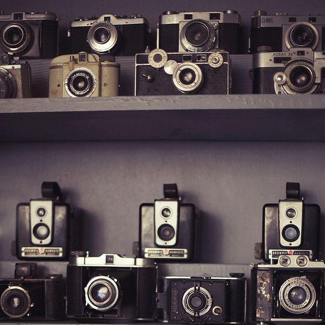 vintage cameras {via Susannah Conway}